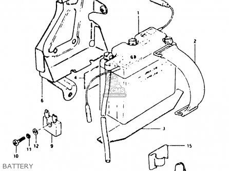 Suzuki Ts50 1983 (erkd) parts list partsmanual partsfiche