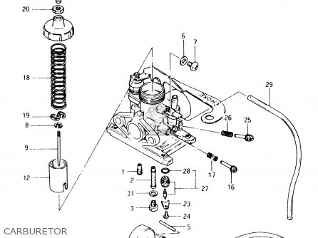 Suzuki Ts50 1994 (xkr) parts list partsmanual partsfiche