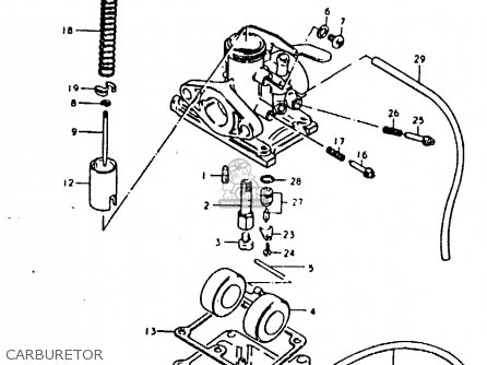 Suzuki TS50ERK 1980 (T) (E02 E16 E21 E22 E41) parts lists