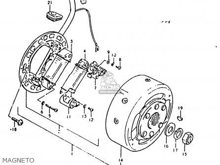 Suzuki TS50ERKD 1981 (X) (E17 E21 E41) parts lists and