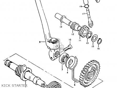 Suzuki TS50ERKDB 1982 (Z) ZWITSERLAND (E18) parts lists