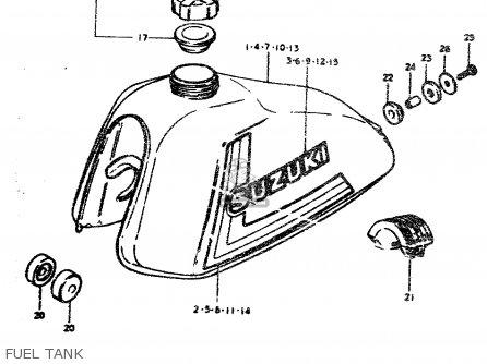 Suzuki Ts50erp 1979 (n) parts list partsmanual partsfiche