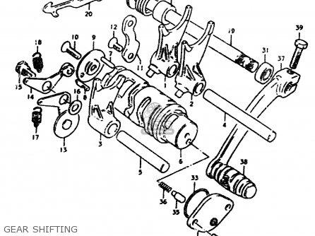 Suzuki TS50ERP 1979 (N) parts lists and schematics