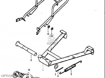 Suzuki Ts75 1975-1977 (usa) parts list partsmanual partsfiche