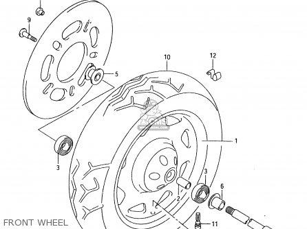 Suzuki Vl1500 1998 (w) parts list partsmanual partsfiche
