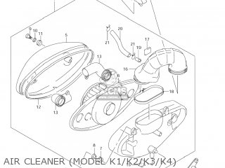 Suzuki Vl800 Volusia 2001 (k1) Usa (e03) parts list