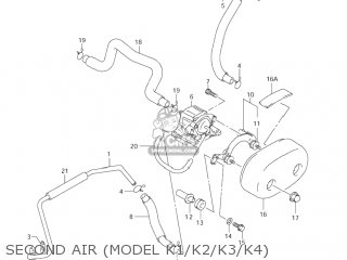 Suzuki Vl800 Volusia 2001 (k1) Usa (e03) parts list
