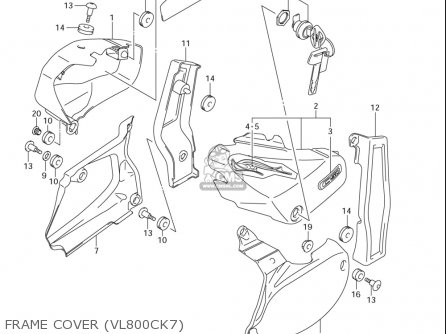 Suzuki Vl800 ,c,t (usa) parts list partsmanual partsfiche