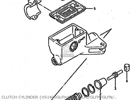Suzuki Vs1400 1995 (glps) parts list partsmanual partsfiche