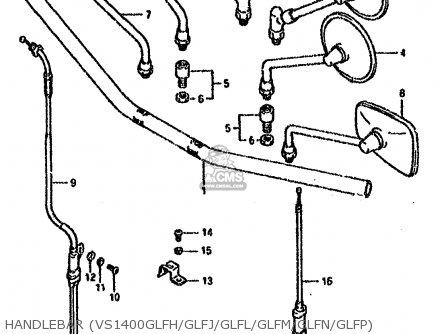Suzuki VS1400GLF 1990 (L) (E01 E04 E17 E21 E22 E39) parts