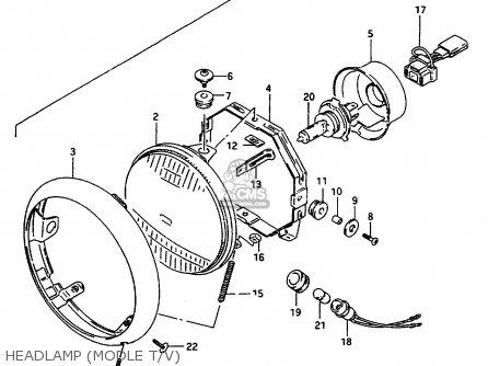 Suzuki VS600GLU 1997 (V) GERMANY (E22) parts lists and