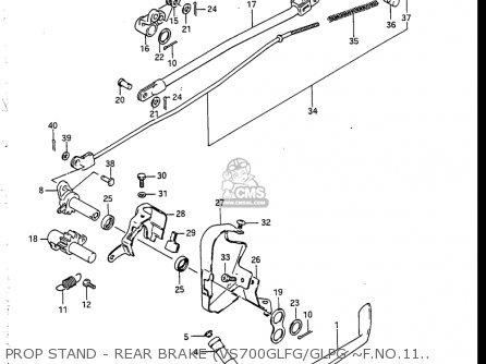 Suzuki Vs700 Glf, Glp, Glef, Glep 1986-1987 (usa) parts