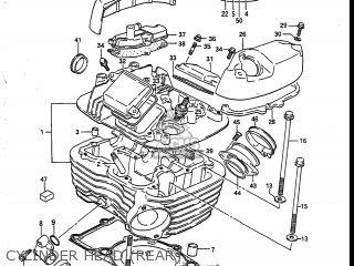 Suzuki Vs700glef Intruder 1986 (g) Usa (e03) parts list