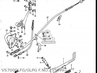 Suzuki VS700GLEF INTRUDER 1986 (G) USA (E03) parts lists