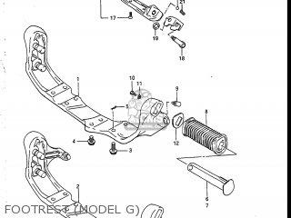 Suzuki VS700GLEP INTRUDER 1986 (G) USA (E03) parts lists