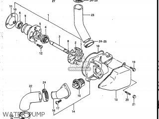 Suzuki Vs700glf Intruder 1987 (h) Usa (e03) parts list