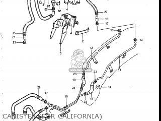 Suzuki VS700GLP INTRUDER 1987 (H) USA (E03) parts lists