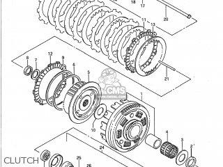 Suzuki Vs700glp Intruder 1991 (m) Usa (e03) parts list