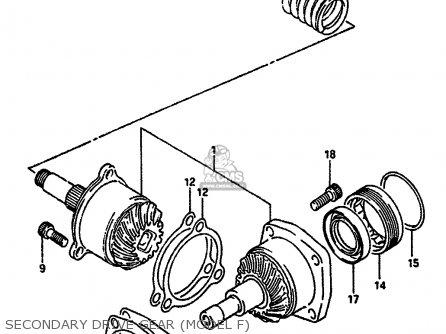 Suzuki Vs750 1986 (glpg) parts list partsmanual partsfiche