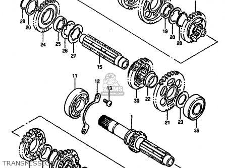 Suzuki Vs750 1990 (glpl) parts list partsmanual partsfiche