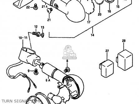 Suzuki Vs750glef 1987 (h) (e02) parts list partsmanual