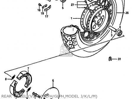 Suzuki Vs750glf 1988 (j) (e04 E18 E22 E34 E75 E77) parts