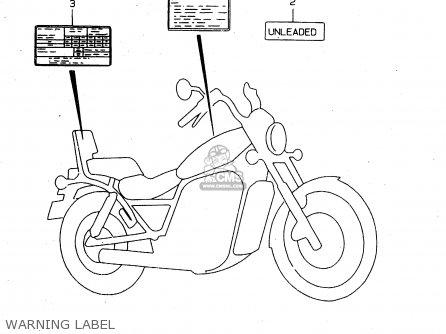 Suzuki Vs800 2000 (gly) parts list partsmanual partsfiche