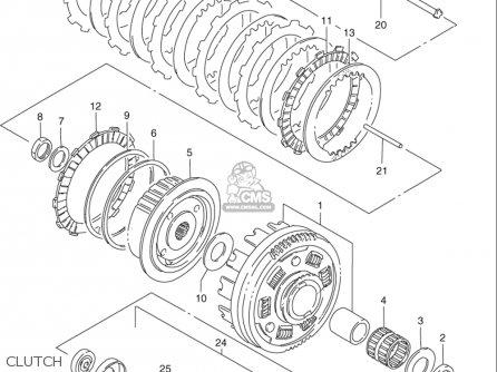 Suzuki Vs800 Gl Intruder 1992-1997 (usa) parts list