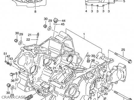 Suzuki Vs800 Gl Intruder 1998-2000 (usa) parts list