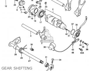 Suzuki VS800GL INTRUDER 1992 (N) USA (E03) parts lists and