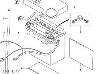 Suzuki VS800GL INTRUDER 1996 (T) USA (E03) parts lists and