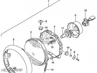 Suzuki VS800GL INTRUDER 1998 (W) USA (E03) parts lists and