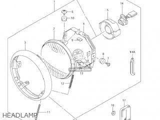 Suzuki VS800GL INTRUDER 2004 (K4) USA (E03) parts lists