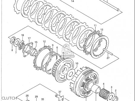 Suzuki Vx800 1990-1993 (usa) parts list partsmanual partsfiche