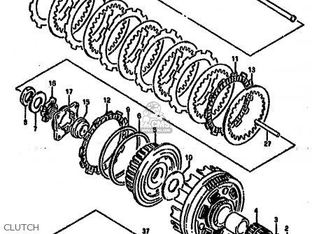 Suzuki Vx800u 1990 (l) (e22) parts list partsmanual partsfiche