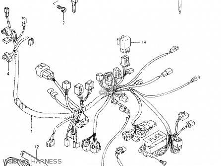 Suzuki VZ800 1999 (X) parts lists and schematics
