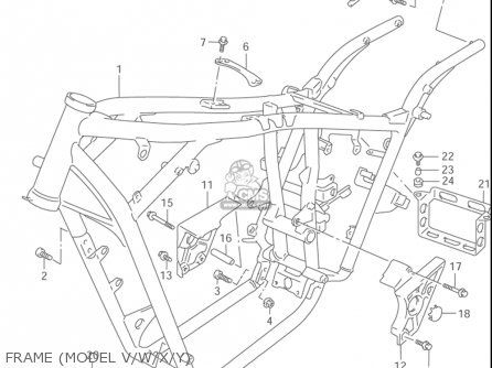 Suzuki Vz800 Marauder 1997-2003 (usa) parts list