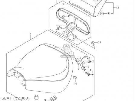 Suzuki Vz800 (usa) parts list partsmanual partsfiche