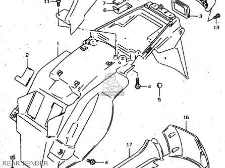Suzuki Xf650 1997 (v) parts list partsmanual partsfiche