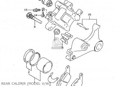 Suzuki XF650 1998 (W) (E02 E04 E17 E18 E22 E24 E25 E34