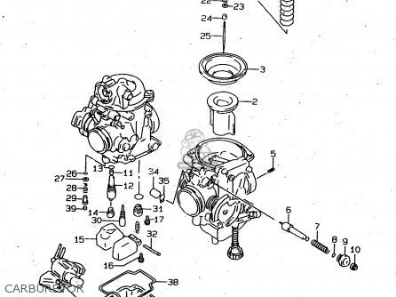 Suzuki Xf650u 1997 (v) (e22) parts list partsmanual partsfiche
