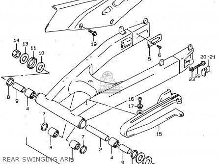 Suzuki XF650U 1997 (V) (E22) parts lists and schematics