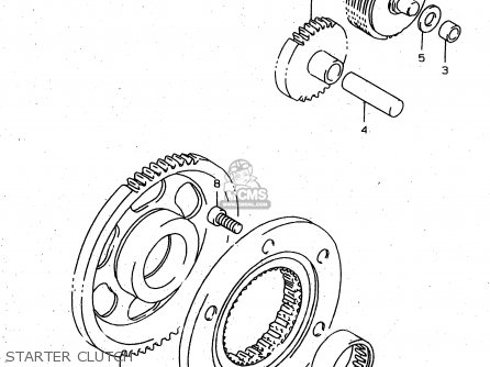Suzuki Xf650u 1997 (v) (e22) parts list partsmanual partsfiche