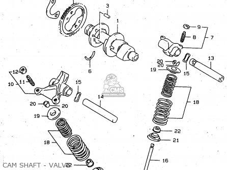 Suzuki Xf650u 1998 (w) (e22) parts list partsmanual partsfiche