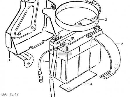 Suzuki Zr50 1981 (kx) parts list partsmanual partsfiche