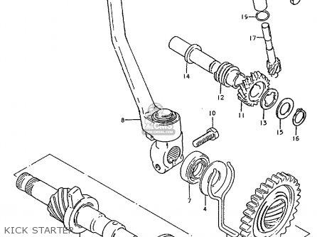 Suzuki ZR50K 1981 (X) (E22) parts lists and schematics