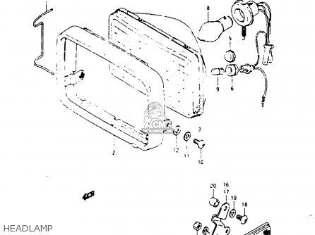 Suzuki Zr50sk 1987 (h) (e02 E16 E21) parts list