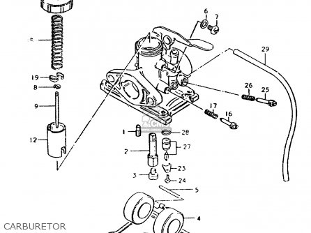 Suzuki ZR50SLK 1981 (X) (E02 E21) parts lists and schematics