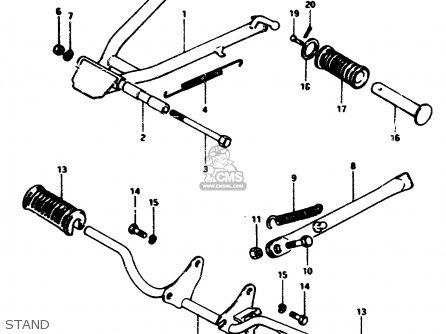 Suzuki Zr50slk 1981 (x) (e02 E21) parts list partsmanual