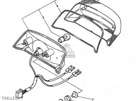 BULB, TAIL LAMP (12V23/8W) for XJ600S 1998 4BRE FINLAND